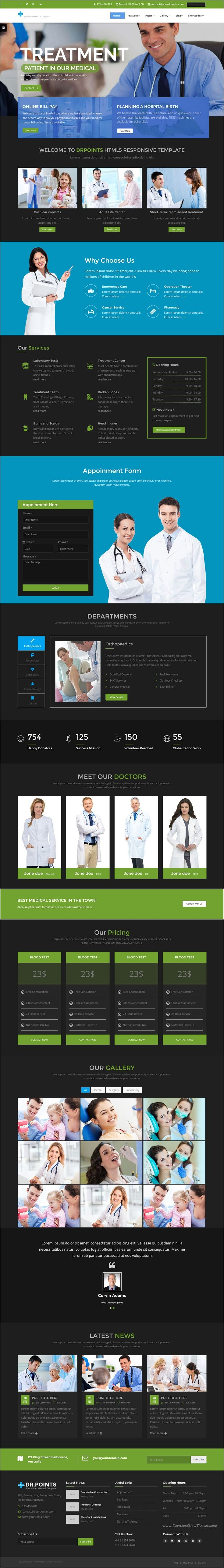 DrPonits is a wonderful premium Bootstrap #HTML5 #template for health, medical, #hospital and #dental service website download now➩ https://themeforest.net/item/drponits-health-medical-hospital-dental-html5-template/18683805?ref=Datasata