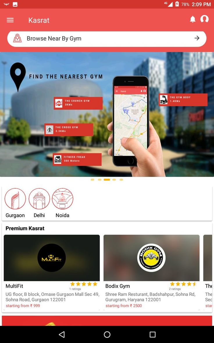 Check out Nearby Gym,it's environment and Interior from your home. #Kasrat