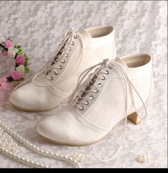 Shoes  Victorian Boots  Wedding Bridal Mother of by MyLillieShoes