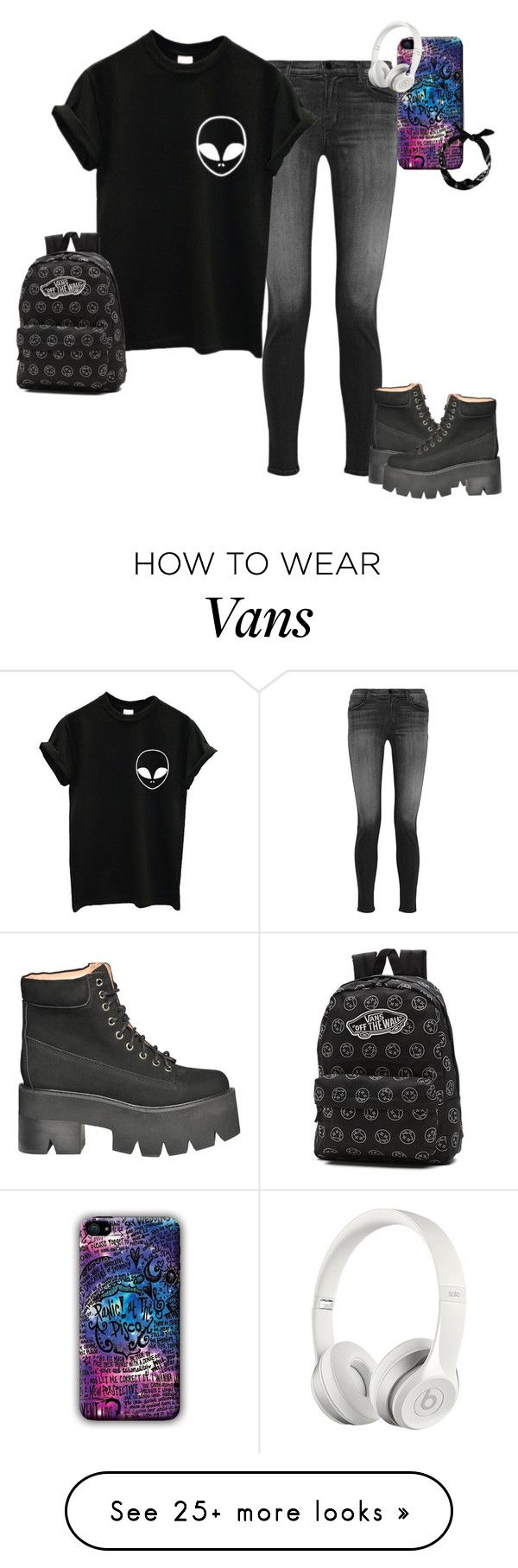 """""""Untitled #844"""" by blackveilbridesbvbsixx on Polyvore featuring J Brand, Jeffrey Campbell, Vans, Beats by Dr. Dre, women's clothing, women's fashion, women, female, woman and misses"""