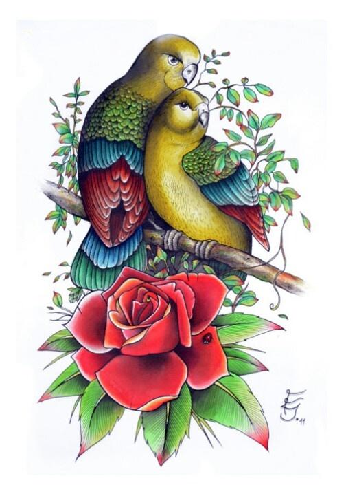 Love birds tattoo | Tattoos I Love | Pinterest | Love ...