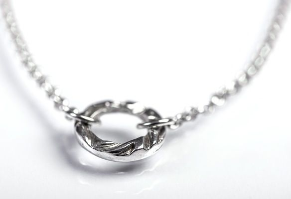 Designed and made by Nuit Nuit. Fine silver (.999) on a sterling belcher chain