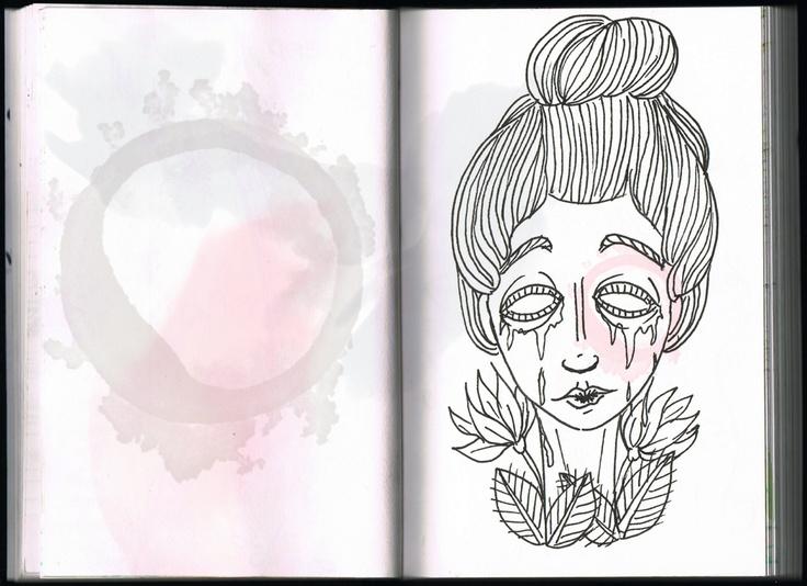 Maria Carpideira (sketch) - São Marias project - 2012, by Maria Oliveira.