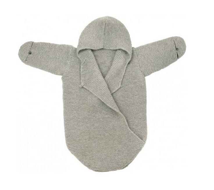 Newborn Handknit Cashmere Bunting   sugar on snow