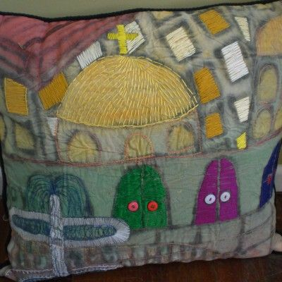 Cathedral cushion by Monte Lupo Arts