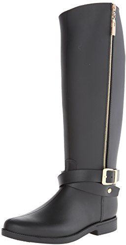 $34, Black Rain Boots: Chinese Laundry Dirty Laundry Reckless Pvc Rain Boot. Sold by Amazon.com. Click for more info: https://lookastic.com/women/shop_items/146633/redirect