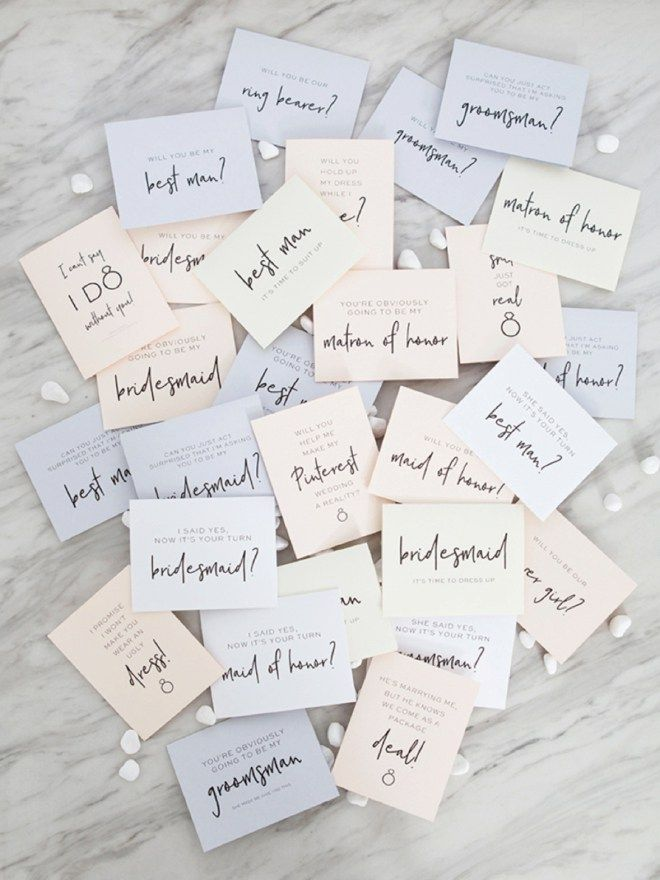 image relating to Free Printable Bridesmaid Cards called 30+ No cost Printable \