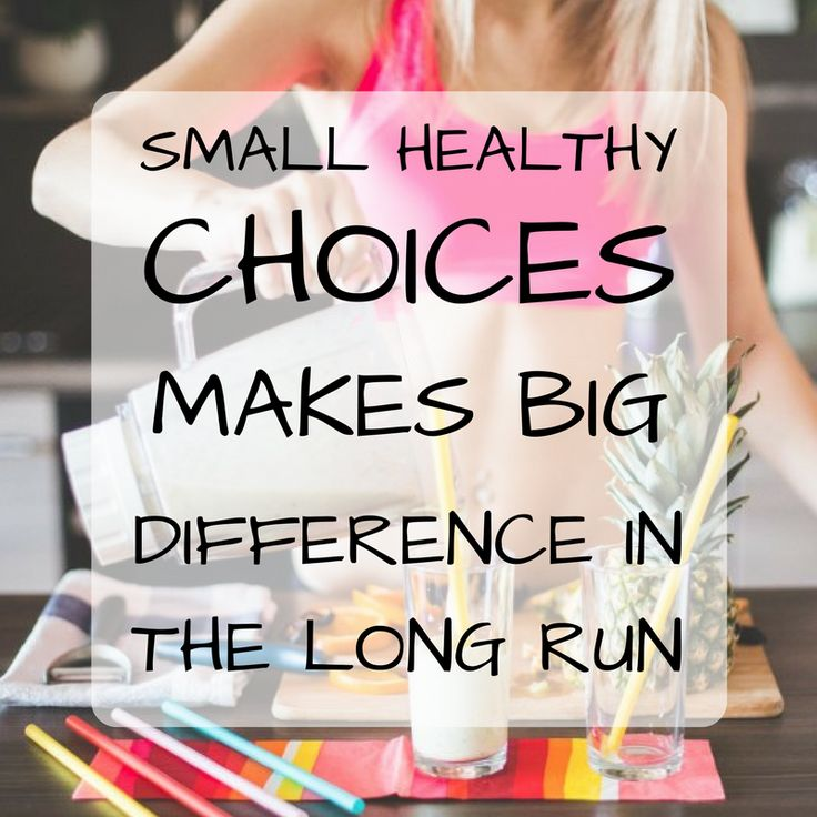 Small healthy choices makes big difference in the long run. http://newestweightloss.com #weightloss #diet #weightlossmotivation #fitspo