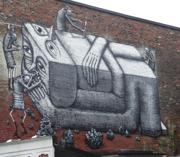 119 best images about phlegm street art on pinterest for Art mural montreal