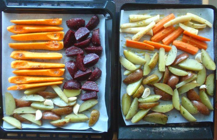 Aneta Goes Yummi: Jamieho pečená zelenina ako príloha k imaginárnemu moriakovi