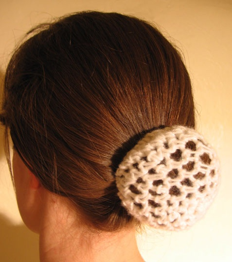 Sparkly Ballet Hair Bun Cover - Ballet Dancer Hair Accessories - Hair Snood  Too bad I don't know how to crochet...