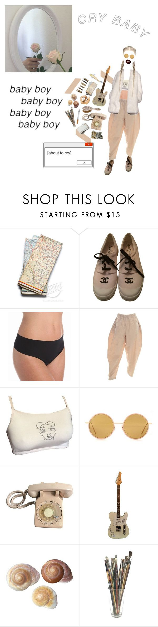 """""""Cry baby"""" by safi-a ❤ liked on Polyvore featuring Chanel, Commando, Derek Lam, Acne Studios, Laundry and GET LOST"""