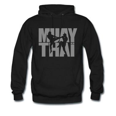 2 colors, vector design of muay thai fighters. Hoodies & Sweatshirts.