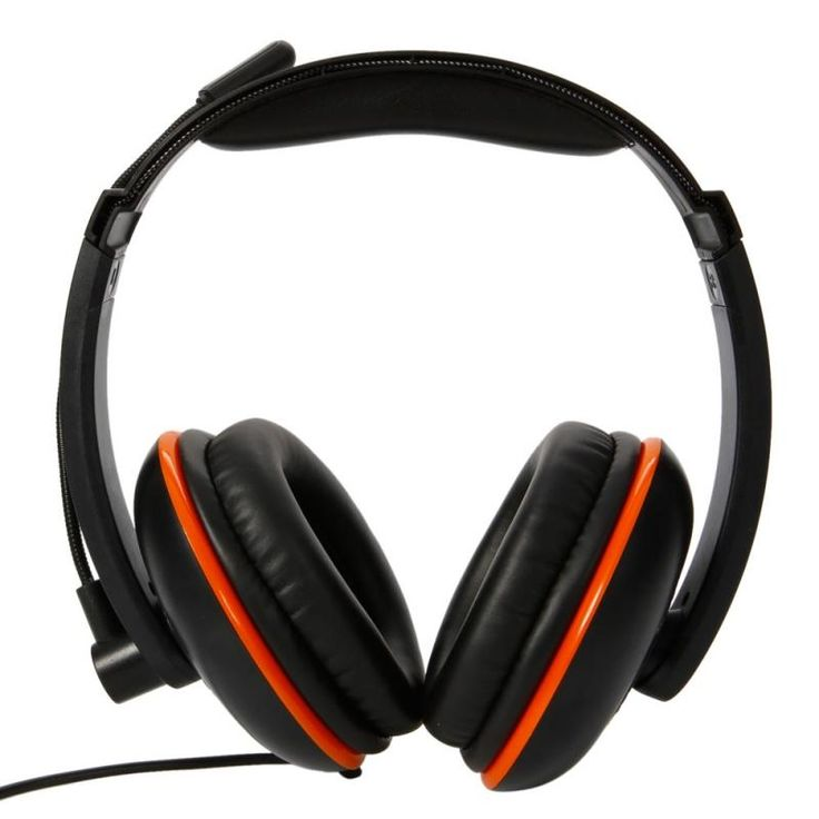 Wired Headset for PS4 Black & Orange