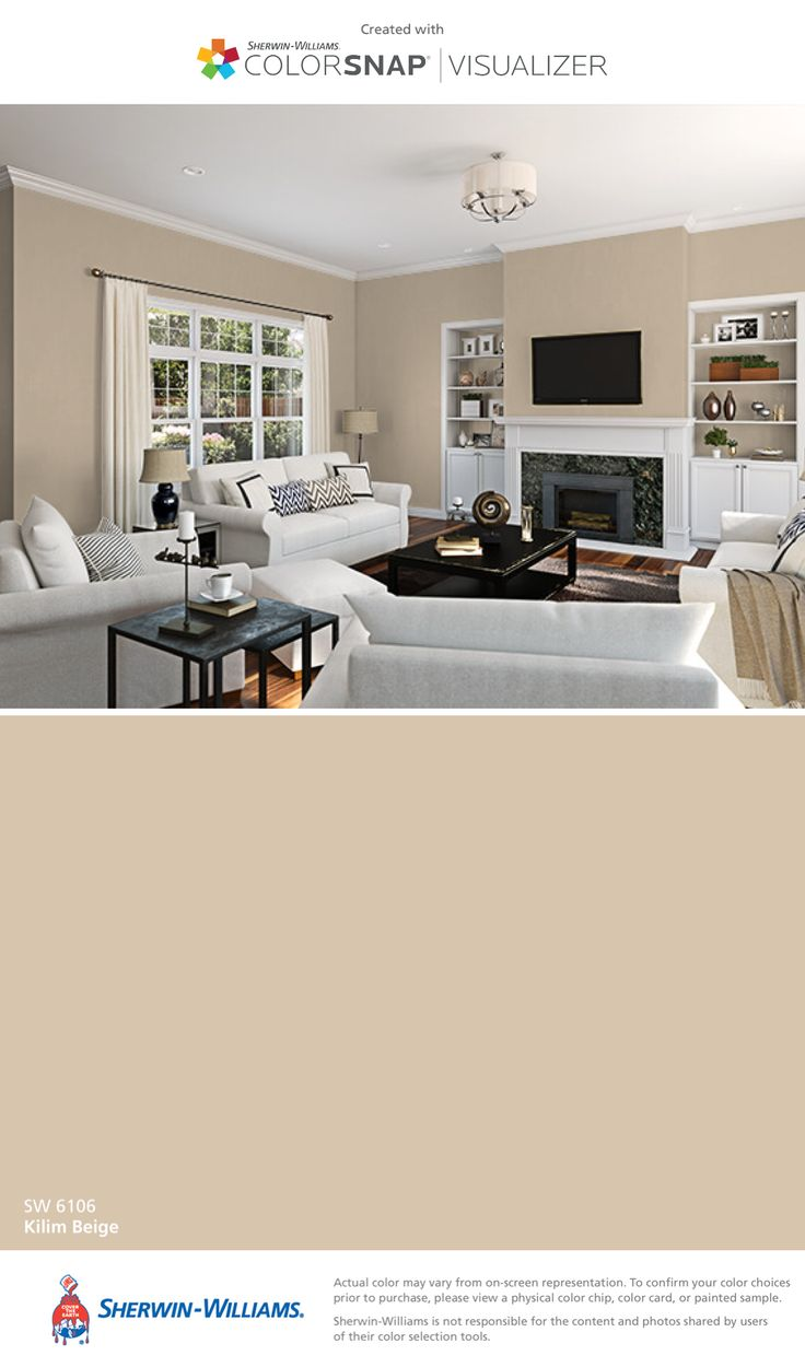 I found this color with ColorSnap® Visualizer for iPhone by Sherwin-Williams: Kilim Beige (SW 6106).