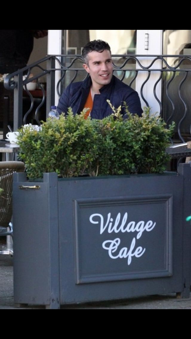 Robin van Persie in Village Café