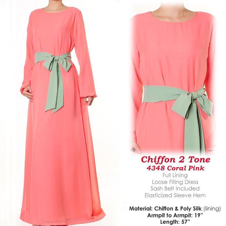 4348 Sweet Pastel Chiffon Abaya Dress - Standard Size S/M US$30 FREE SHIPPING WORLDWIDE  Buy It Here --> http://shop.pe/BcjCP