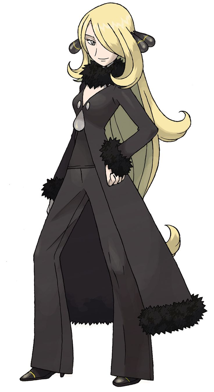 Cynthia, The Pokémon Champion in the Sinnoh region.