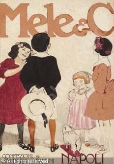 TERZI Aleardo J. E. - Bozzetto per i magazzini Mele di Napoli
