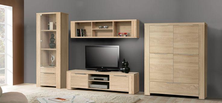 Wohnwand Sonoma Eiche Woody 77 00470 Holz Modern Jetzt Bestellen Unter