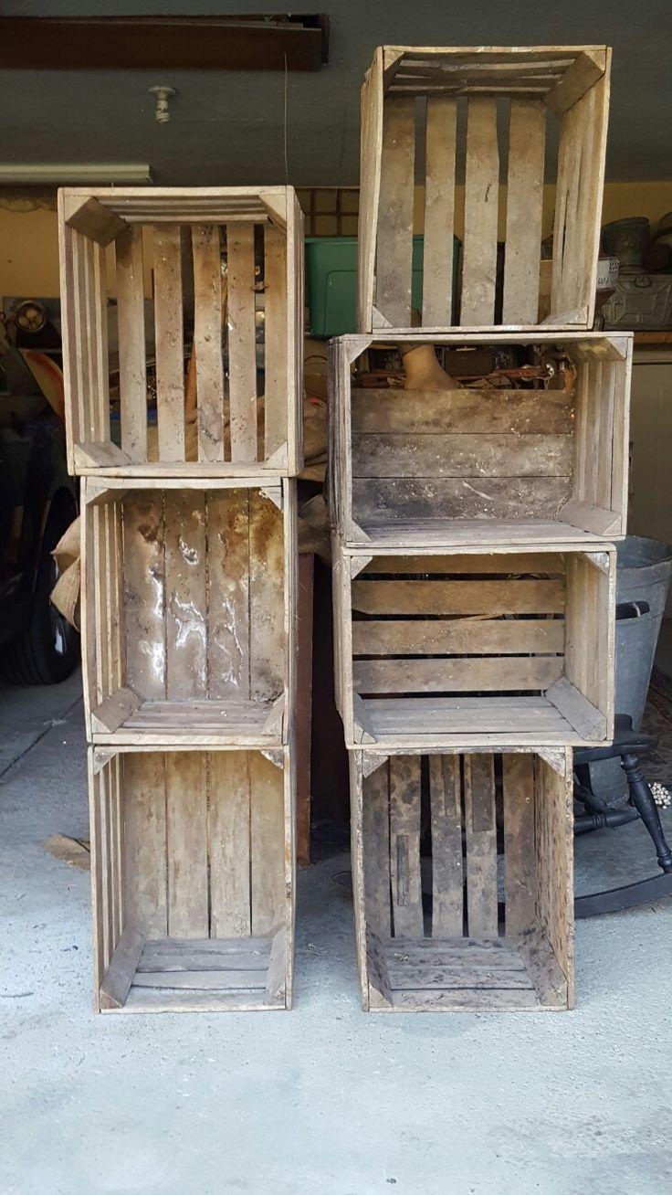 best 25 apple crates for sale ideas on pinterest wooden crates for sale wood crates for sale. Black Bedroom Furniture Sets. Home Design Ideas