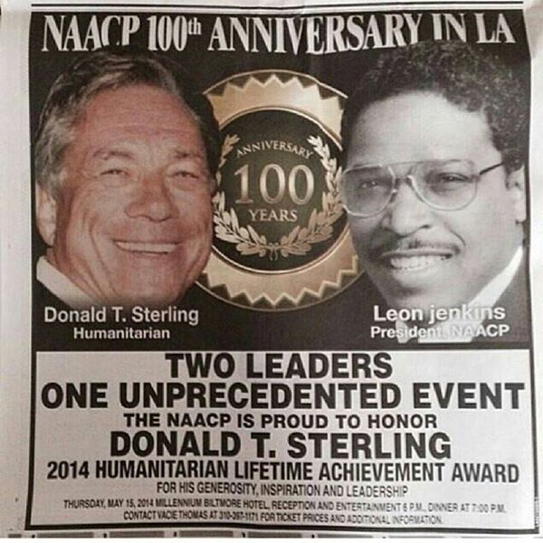 """""""Don't bring black people to my games . . . including Magic Johnson"""" - Donald Sterling. Exactly what is the NAACP's mission again?"""