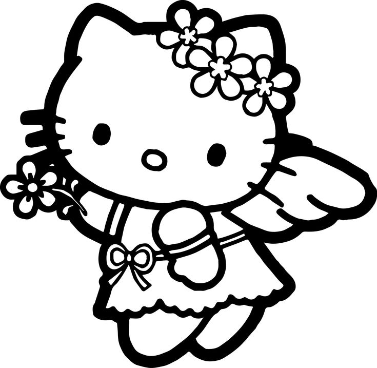 Google Hello Kitty Coloring Pages : Hello kitty coloring page wecoloringpage pinterest