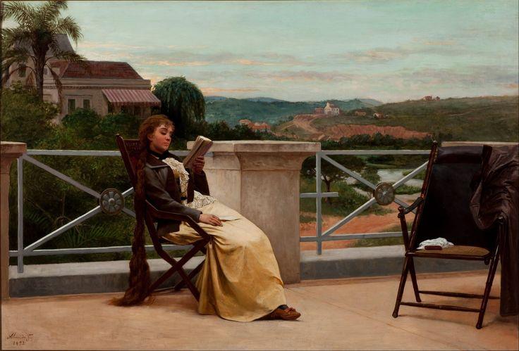 José Ferraz de Almeida Júnior (Brasil, 1850-1899) - Lectura, 1892. Óleo sobre lienzo, 95 x 141 cm (Pinacoteca del Estado de São Paulo - São Paulo, Brasil)