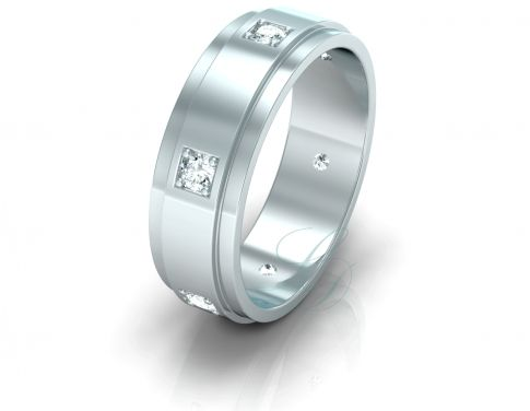 VICTORIA - Wedding Ring FOR HIM with diamonds - LucyDiamonds.cz