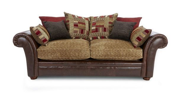DFS Perez Sofa Beds 3 Seater Pillow Back:DFS angelic Armchair fabric Sofa for Sales in UK. this Dfs Fabric Sofa Include scatter cushion, available and foam