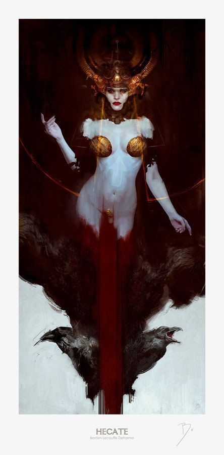 Hey, I found this really awesome Etsy listing at https://www.etsy.com/listing/152704271/hecate-giclee-print-fine-art-300gsm