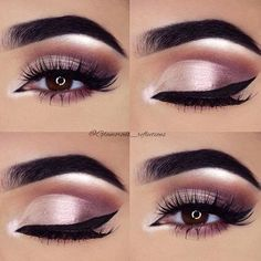 Pink eye makeup ideas, perfect for an evening out
