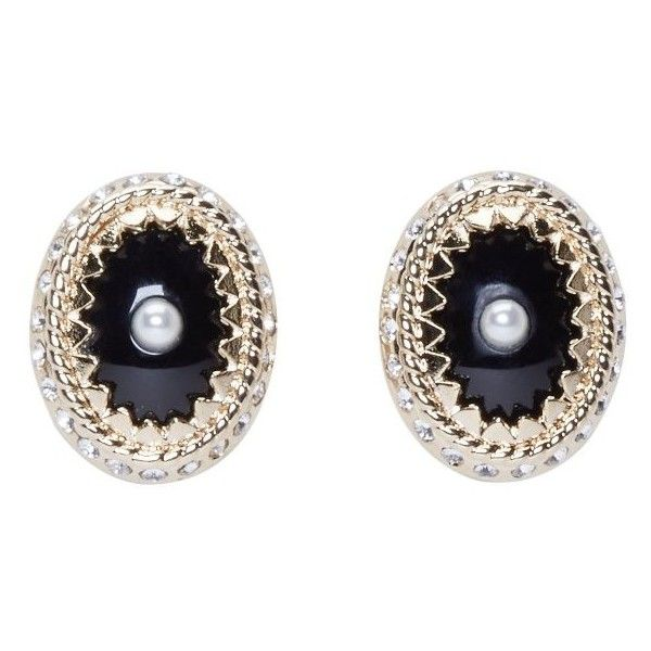 Givenchy Gold and Pearl Magnet Earrings (7 395 ZAR) ❤ liked on Polyvore featuring jewelry, earrings, accessories, givenchy earrings, black magnetic earrings, gold stud earrings, white gold pearl earrings и black earrings