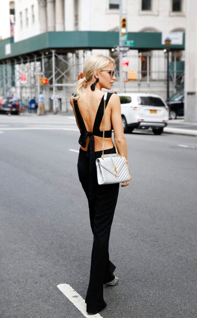 Caroline Daur from Street Style at New York Fashion Week Spring 2017  Jumpsuits…