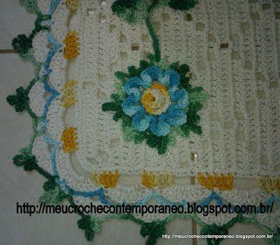 Meu Crochê Contemporâneo: Flor Juh Medina