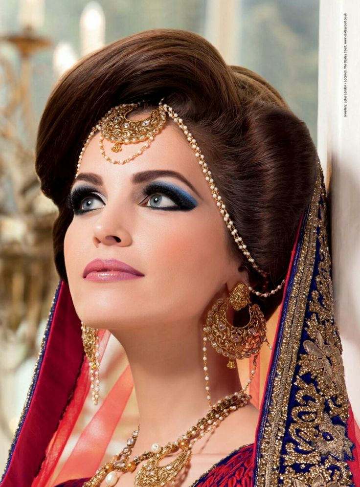 Updo Hair With Matha Patti Hairstyle For Bride