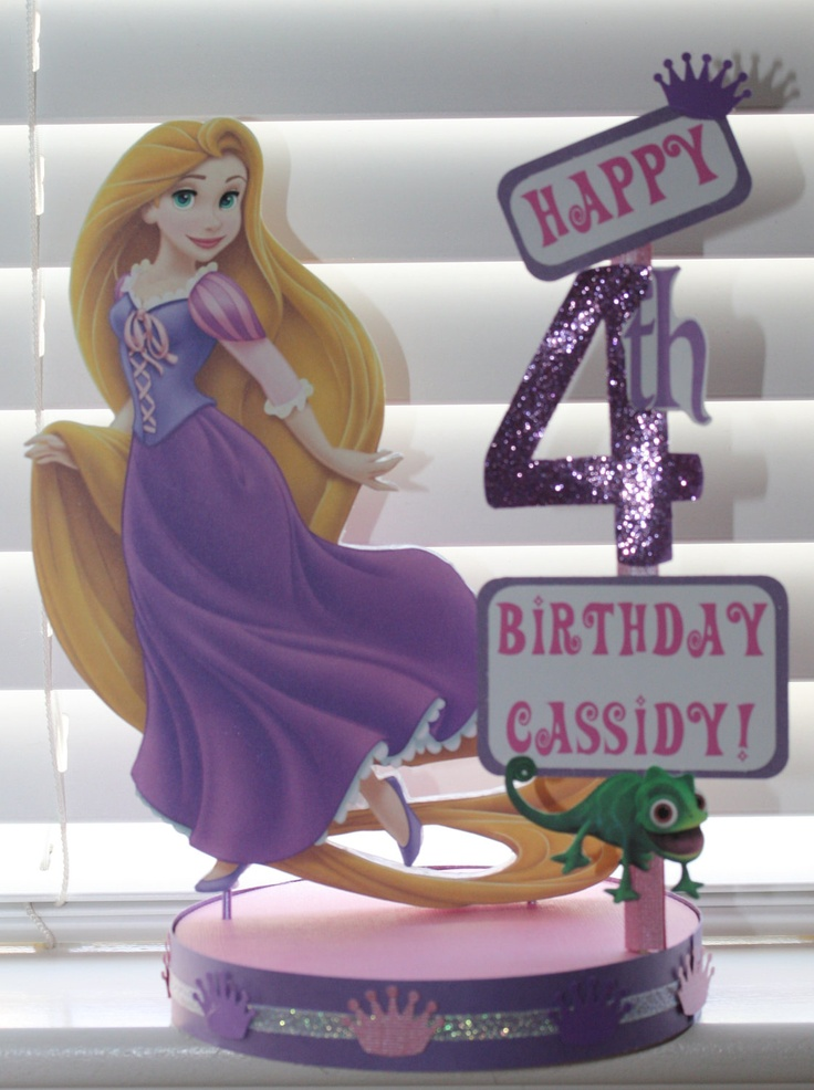 Tangled Rapunzel Birthday Party Custom Centerpiece. $18.50, via Etsy.