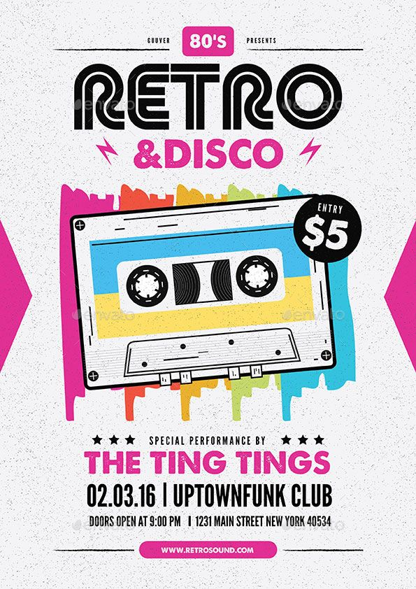 Retro Disco Flyer