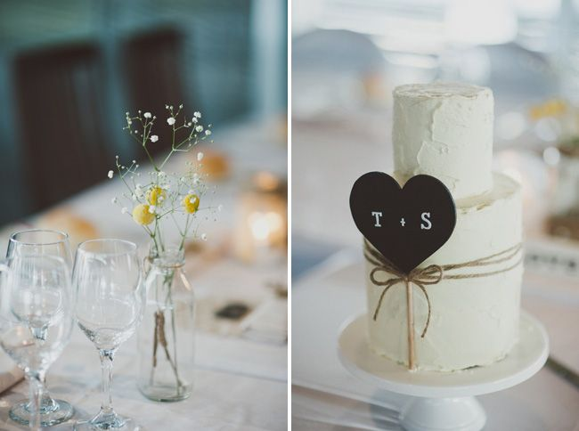 Twine wrapped wedding cake with chalkboard sign » Blue Mountains Wedding Photographer » Willow & Co. http://willowand.co