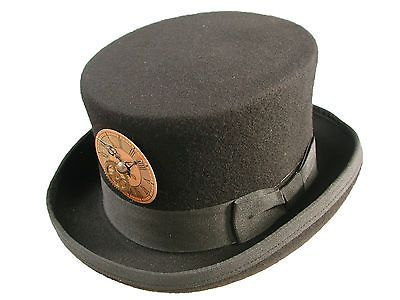 Steampunk/Victoriano Sombrero Negro Con clockface oro
