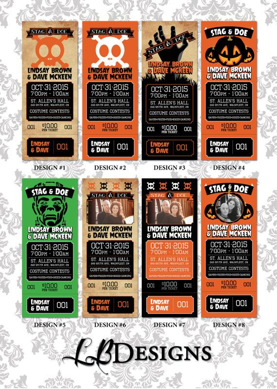 Stag and Doe Tickets  Halloween Theme