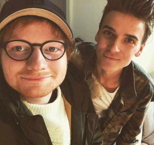 Joe Sugg and Ed Sheeran