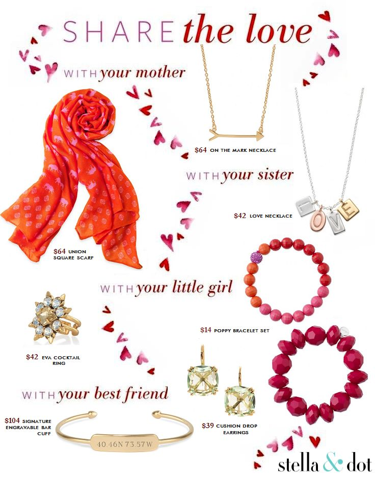 Share the love this Valentine's Day with your mom, grandma, wife, sister, best friend, aunt or child with a little help from Stella & Dot. (Canada version & pricing)