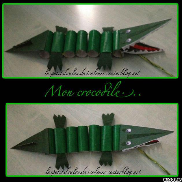 Crocodile bricolage enfant mer et poisson pinterest for Peinture crocodile