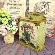 """Для дома и интерьера ручной работы. Ярмарка Мастеров - ручная работа """"Винтажный букет"""" """" Чайный буфет,  двойной домик для чая,. Handmade."""