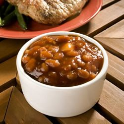 Down Home Baked Beans...yummy with extra ground beef....bbq sause ...