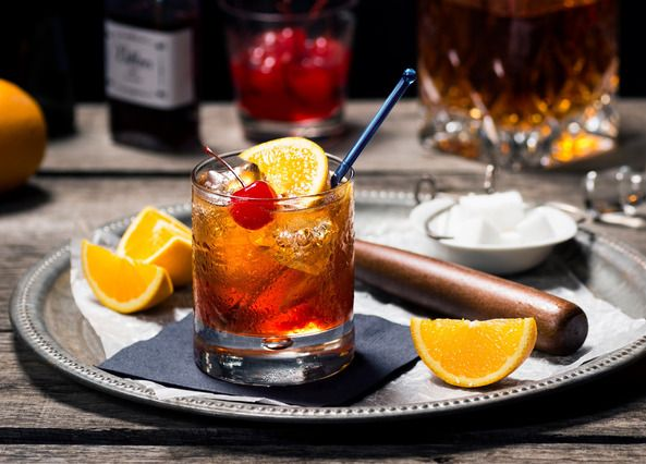 The ultimate old fashioned Cocktail. Stir up your favourite whisky, a dash of Angostura bitters and a slice of orange for this classic after-dinner cocktail. Visit sainsburys.co.uk for more recipes
