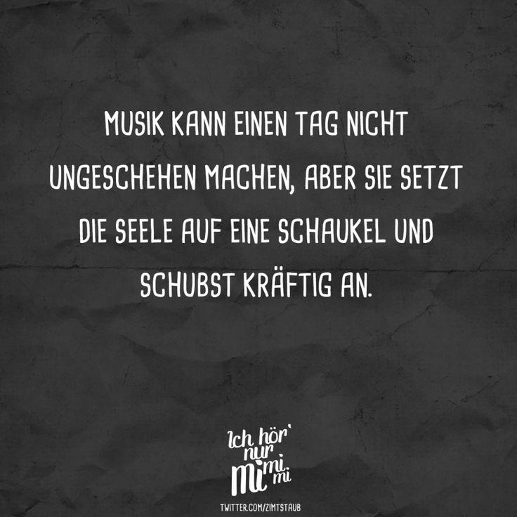 Musik kann einen Tag nicht ungeschehen machen, aber sie setzt die Seele auf eine Schaukel und schubst kräftig an