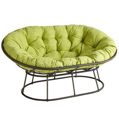 Outdoor mocha double papasan chair frame papasan chair for Where to buy papasan chair