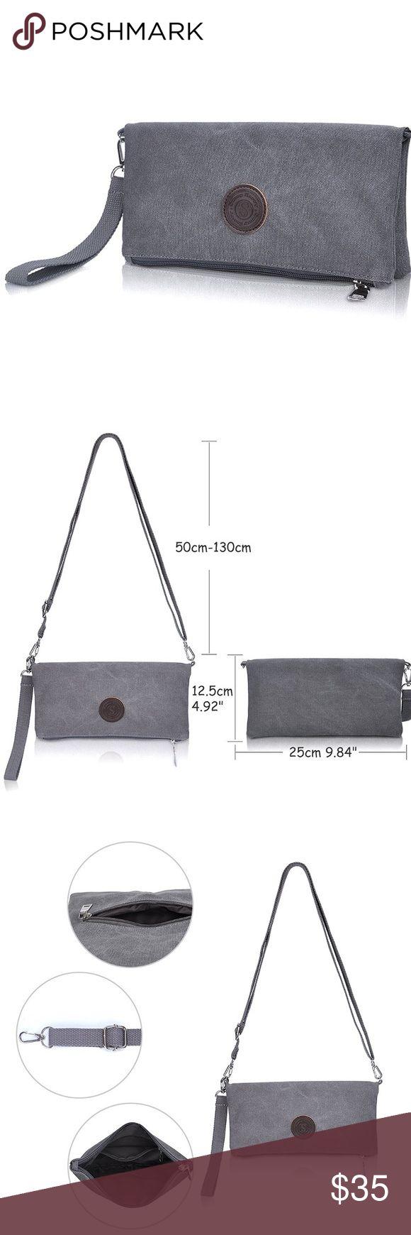 Grey Clutch/Crossbody Bag See above Bags Crossbody Bags